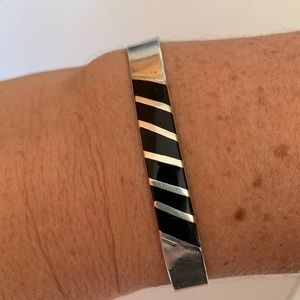 Vintage Silver Alpaca Cuff Bracelet